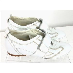 Tod's White Owens Gommino Velcro Driving Sneakers